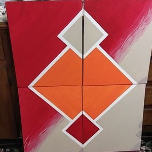 Other - Set of 4 canvas paintings